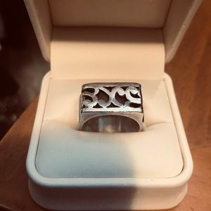 Lois Hill Cigar Band sterling silver ring